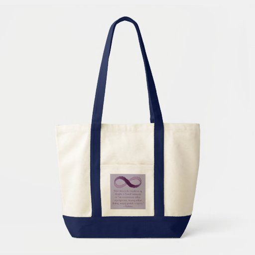 Voltaire Meditation Infinity Quote Bag