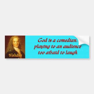 Voltaire quote 6 bumper stickers