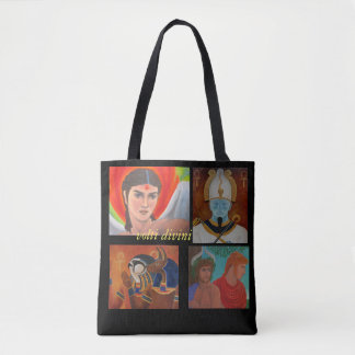 'volti divini' (divine faces) of the gods tote bag