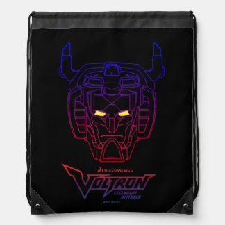 Voltron | Blue-Red Gradient Head Outline Drawstring Bag