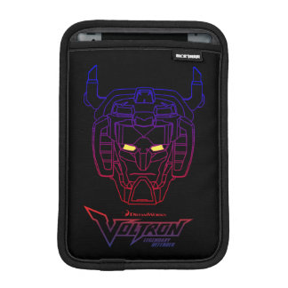 Voltron | Blue-Red Gradient Head Outline iPad Mini Sleeve
