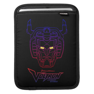 Voltron | Blue-Red Gradient Head Outline iPad Sleeve