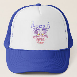 Voltron | Blue-Red Gradient Head Outline Trucker Hat