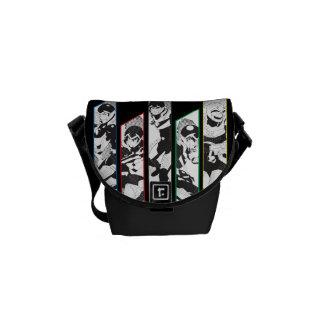 Voltron   Classic Pilots Halftone Panels Courier Bags