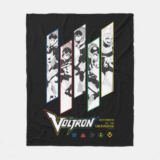 Voltron | Classic Pilots Halftone Panels Fleece Blanket