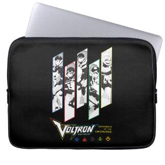 Voltron | Classic Pilots Halftone Panels Laptop Sleeve
