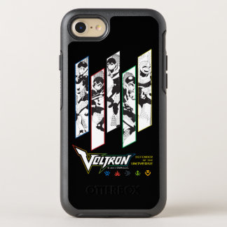 Voltron | Classic Pilots Halftone Panels OtterBox Symmetry iPhone 8/7 Case