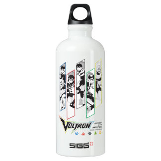Voltron | Classic Pilots Halftone Panels Water Bottle