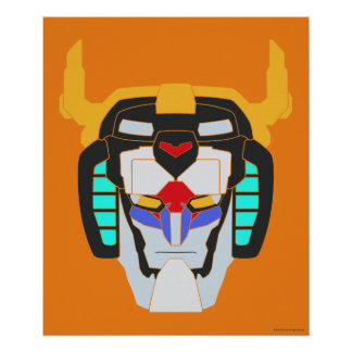 Voltron | Colored Voltron Head Graphic Poster