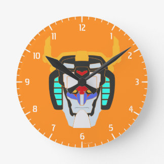 Voltron | Colored Voltron Head Graphic Round Clock
