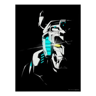 Voltron | Gleaming Eye Silhouette Poster