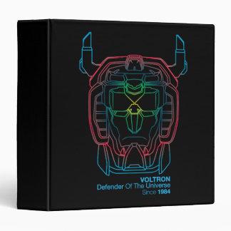 Voltron | Pilot Colors Gradient Head Outline 3 Ring Binders