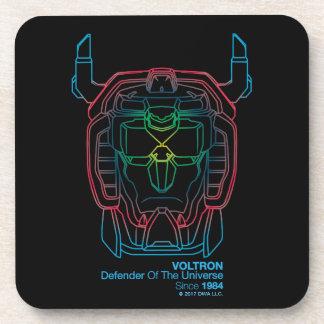 Voltron | Pilot Colors Gradient Head Outline Coaster