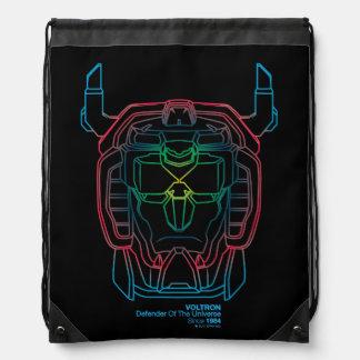 Voltron | Pilot Colors Gradient Head Outline Drawstring Bag