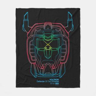 Voltron | Pilot Colors Gradient Head Outline Fleece Blanket