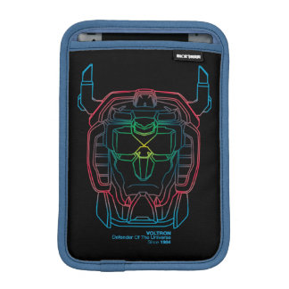 Voltron | Pilot Colors Gradient Head Outline iPad Mini Sleeve