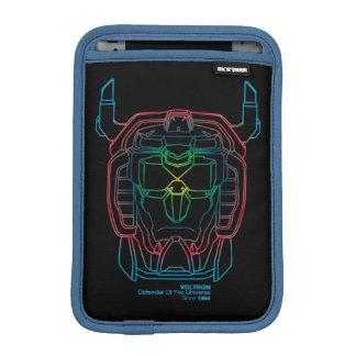 Voltron | Pilot Colors Gradient Head Outline iPad Mini Sleeve