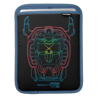 Voltron | Pilot Colors Gradient Head Outline iPad Sleeve