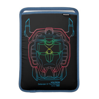 Voltron | Pilot Colors Gradient Head Outline MacBook Sleeve