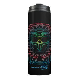 Voltron | Pilot Colors Gradient Head Outline Thermal Tumbler