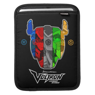 Voltron | Pilots In Voltron Head iPad Sleeve