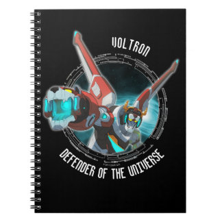 Voltron | Red Lion Plasma Beam Spiral Note Book