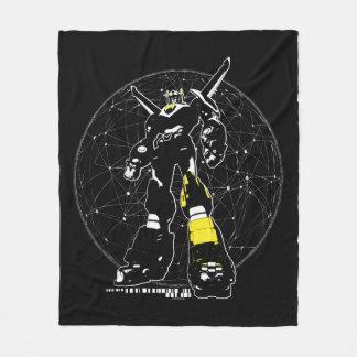 Voltron | Silhouette Over Map Fleece Blanket
