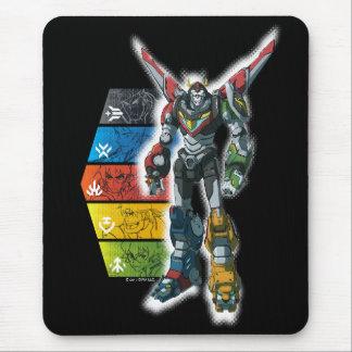 Voltron   Voltron And Pilots Graphic Mouse Pad