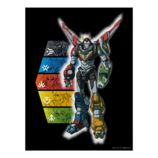Voltron | Voltron And Pilots Graphic Poster