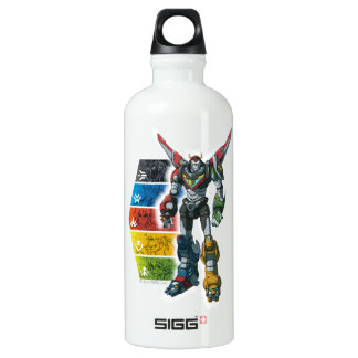 Voltron | Voltron And Pilots Graphic Water Bottle