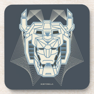 Voltron | Voltron Head Blue and White Outline Coaster