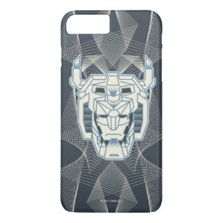 Voltron | Voltron Head Blue and White Outline iPhone 8 Plus/7 Plus Case
