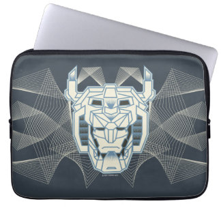 Voltron | Voltron Head Blue and White Outline Laptop Sleeve