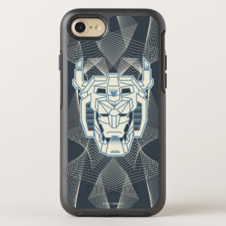 Voltron | Voltron Head Blue and White Outline OtterBox Symmetry iPhone 8/7 Case