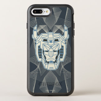Voltron | Voltron Head Blue and White Outline OtterBox Symmetry iPhone 8 Plus/7 Plus Case