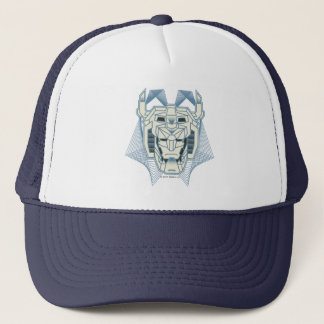Voltron | Voltron Head Blue and White Outline Trucker Hat