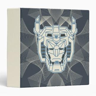 Voltron | Voltron Head Blue and White Outline Vinyl Binder