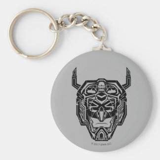 Voltron | Voltron Head Fractured Outline Basic Round Button Keychain