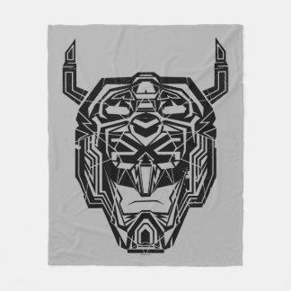 Voltron | Voltron Head Fractured Outline Fleece Blanket