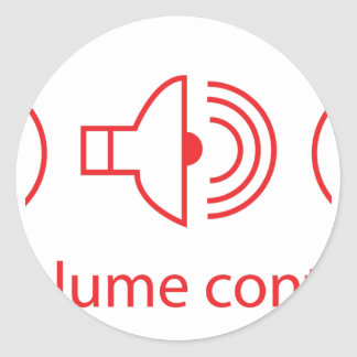 Volume Control - Disc Jockey Music Audio DJ Classic Round Sticker