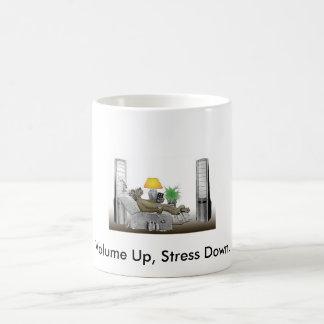 Volume Up, Stress Down. Coffee Mug