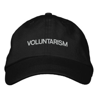 Voluntarism Embroidered Hat