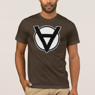 Voluntaryist Hero Symbol with White Border and Bac T-Shirt
