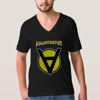 Voluntaryist V-Neck Shirt with Logo