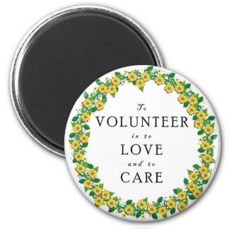 Volunteer Appreciation 2 Inch Round Magnet