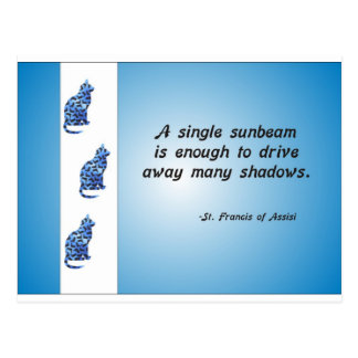 Volunteer Appreciation Cat and Sunbeam Quote Postcard