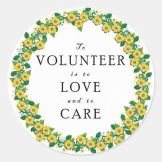 Volunteer Appreciation Classic Round Sticker