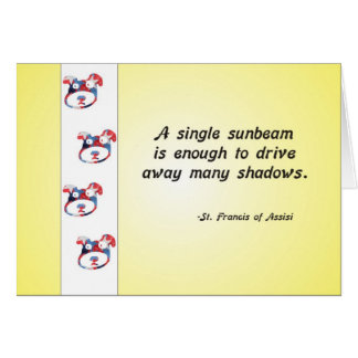 Volunteer Appreciation Dog Face and Sunbeam Quote Card