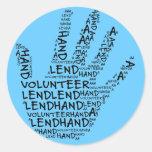 Volunteer Awareness: Lend a Helping Hand Stickers