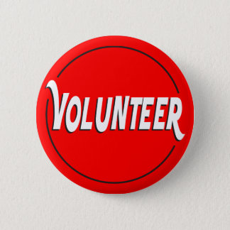 Volunteer Badge Custom Color 2 Inch Round Button